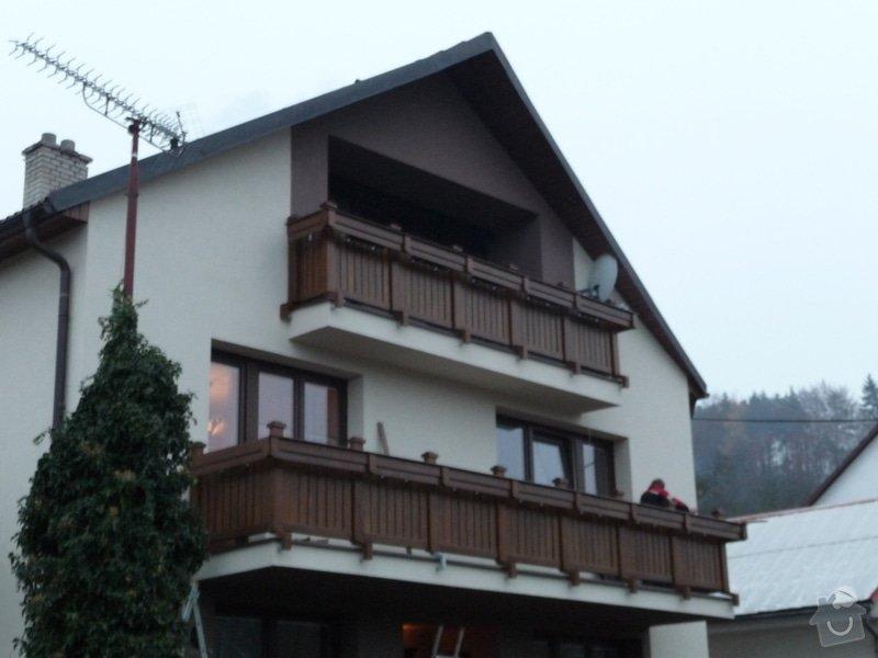 Dřevěné zábradlí balkónu zábradlí s truhlíkem typ TYP SCHWANZENBERG: P1050712