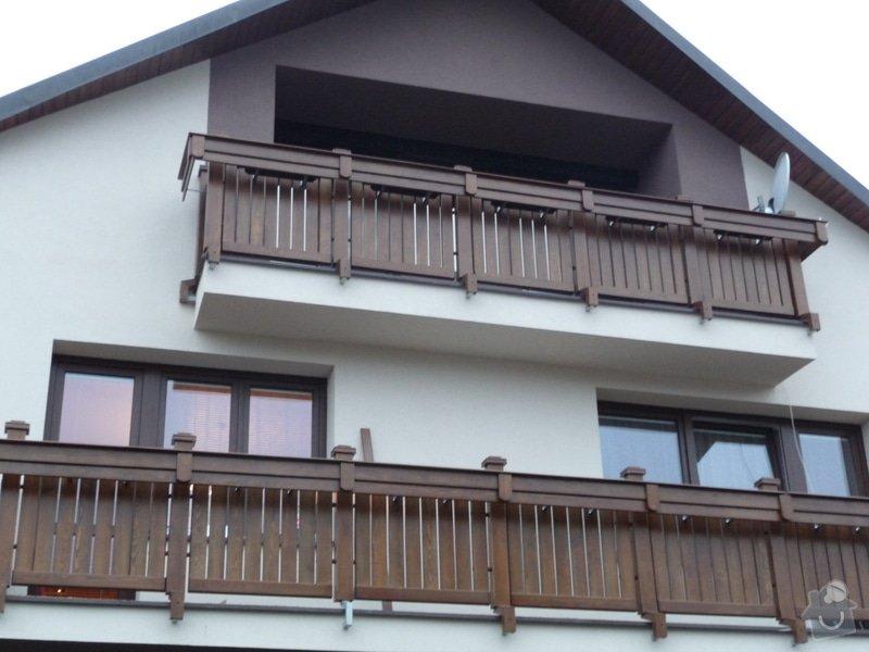 Dřevěné zábradlí balkónu zábradlí s truhlíkem typ TYP SCHWANZENBERG: P1050714