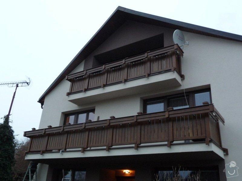Dřevěné zábradlí balkónu zábradlí s truhlíkem typ TYP SCHWANZENBERG: P1050716