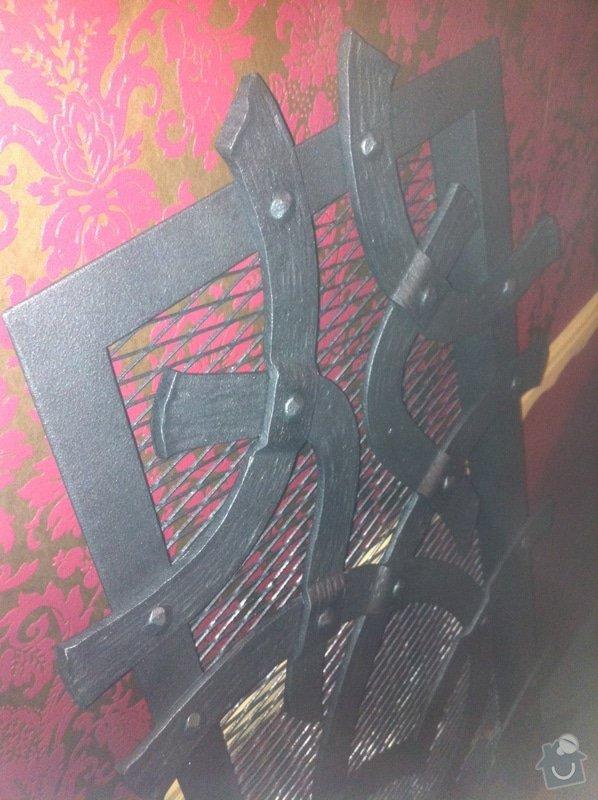Kovaná designová mříž nad krb: IMG_1139