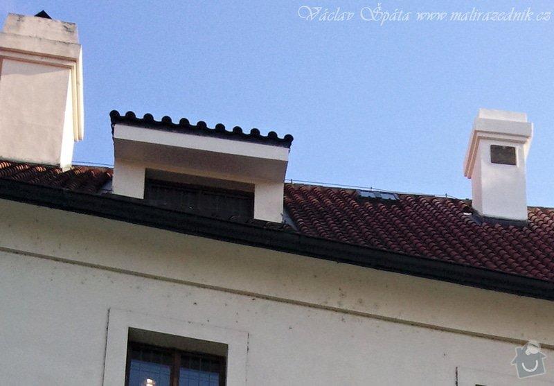 Zednické práce oprava komínu a říms nad okny pomocí horolezecké techniky vč. nátěru fasádní  barvou: Fotografie051
