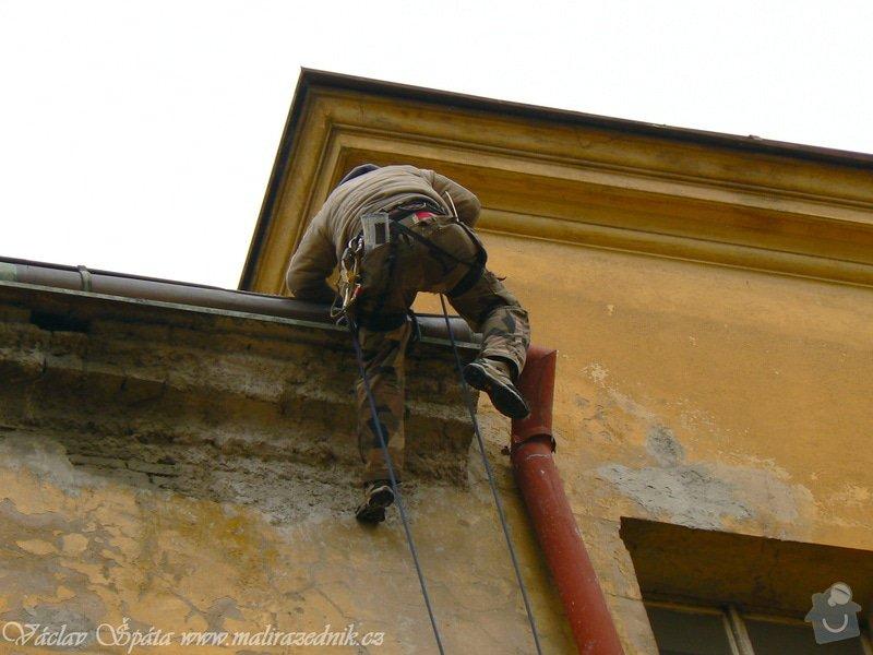 Napojení rozpojeného svodu pomocí horolezecké techniky: P1000994