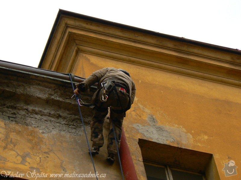 Napojení rozpojeného svodu pomocí horolezecké techniky: P1000995