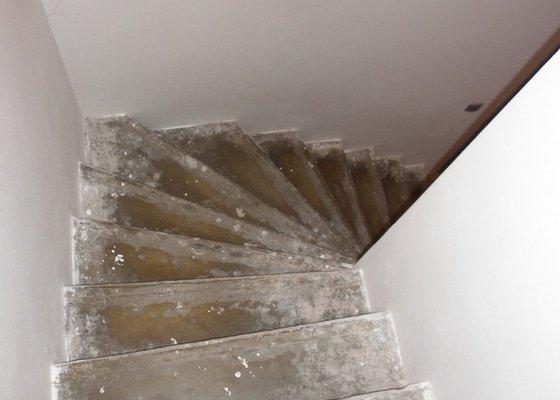 Výroba obložení betonových schodů