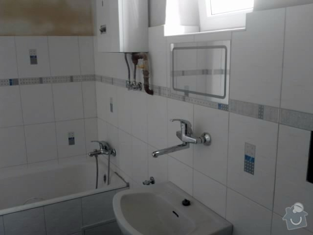 Vydlaždičkování koupelny 18m2, pokládka podlahy v koupelně 3m2: Renovace_koupelny_15_