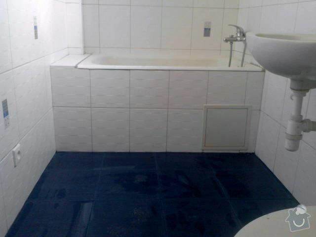 Vydlaždičkování koupelny 18m2, pokládka podlahy v koupelně 3m2: Renovace_koupelny_13_