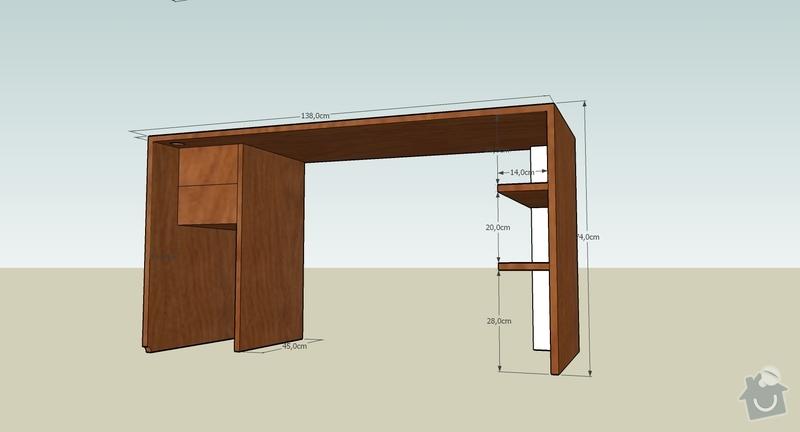 Pracovní stůl + polička: stul_zazadu