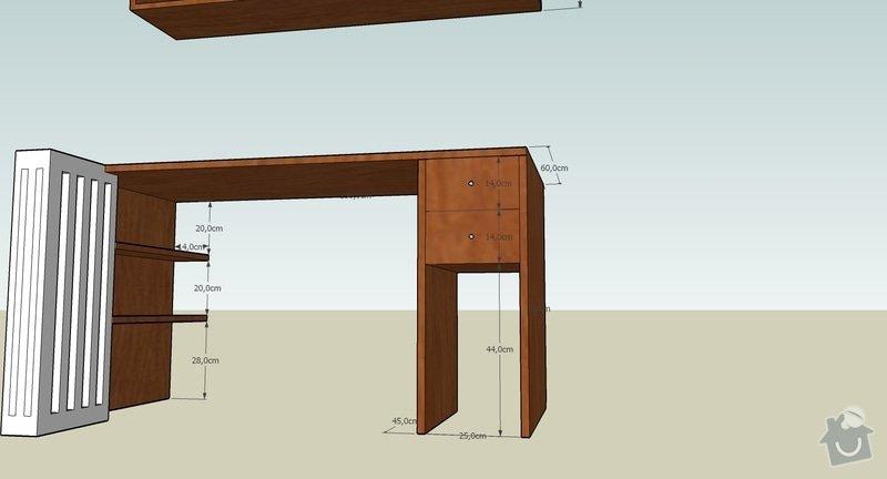 Pracovní stůl + polička: stul_zepredu_2