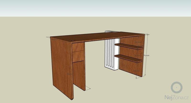 Pracovní stůl + polička: stul_zazadu_2