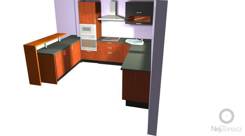 Výroba a montáž kuchyně: pohled1