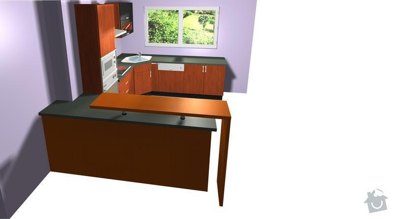 Výroba a montáž kuchyně: pohled3