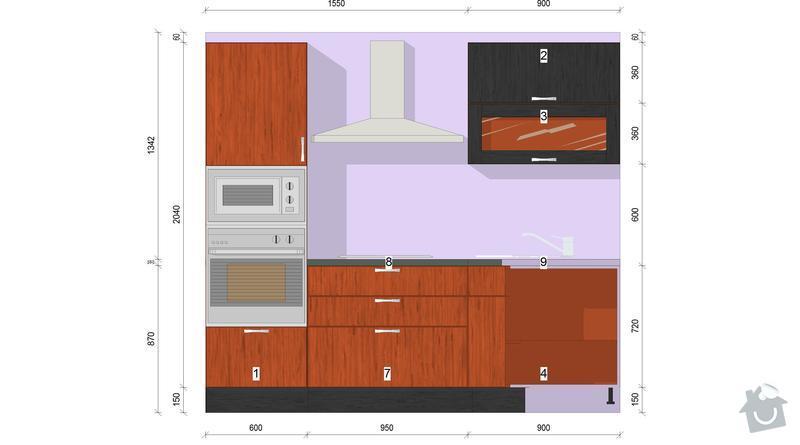 Výroba a montáž kuchyně: pohled5