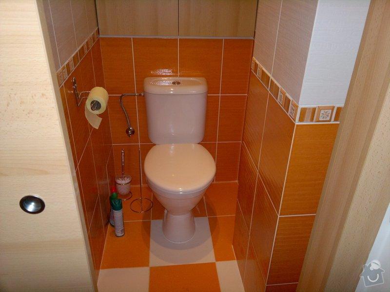 Rekonstrukce koupelny a WC,posuvné dveře,vchodové dveře: 01092011491