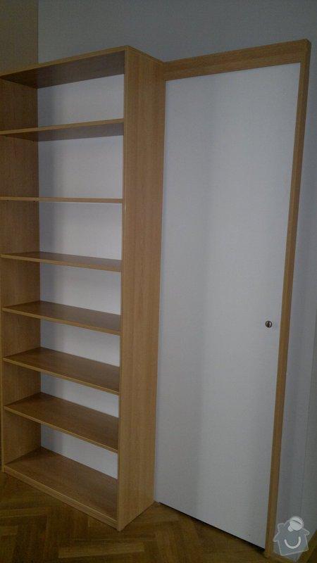 Knihovna, posuvné dveře, dělící stěna: 2012-02-29-127