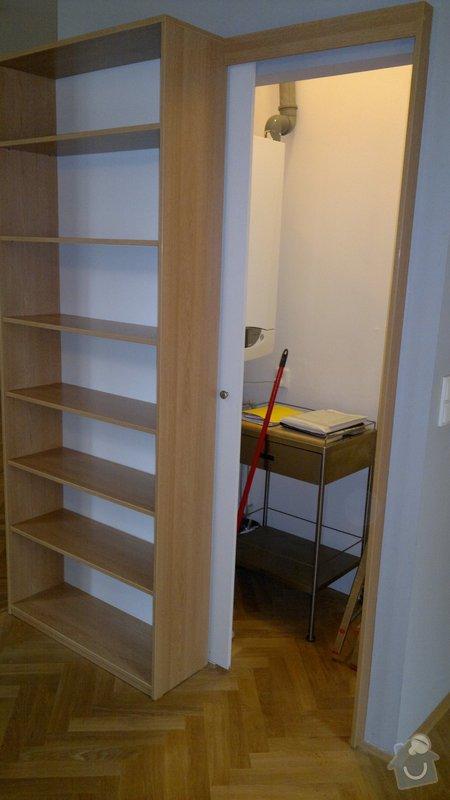 Knihovna, posuvné dveře, dělící stěna: 2012-02-29-130