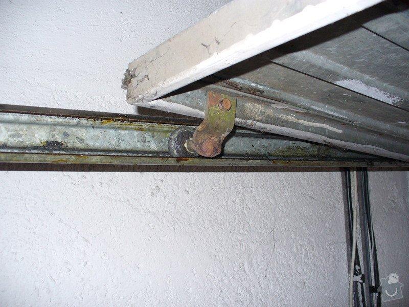 Oprava pojezdu garážových vrat: garaz_Bohdalec_001