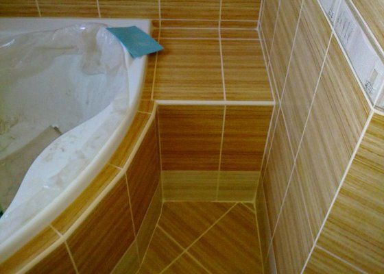 Rekonstrukce koupelny, obklady, dlažba