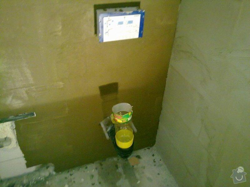 Kompletní rekonstrukce bytového jádra, vyzdění jádra, obložení , podezdění vany a umyvadla, dlažba, štukové omítky: 22072011248