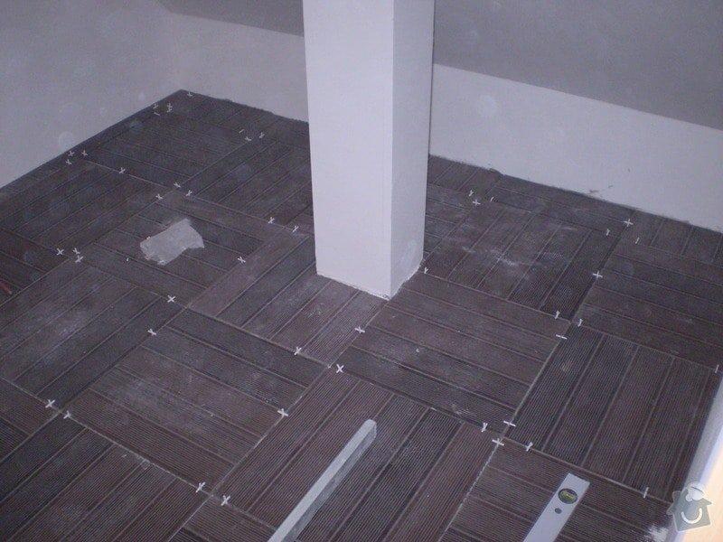 Pokladka plovouci podlahy a dlazby, obklad kuchyne: P2290025