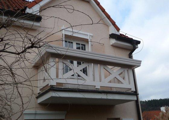 Rekonstrukce balkónu - výroba nového zábradlí