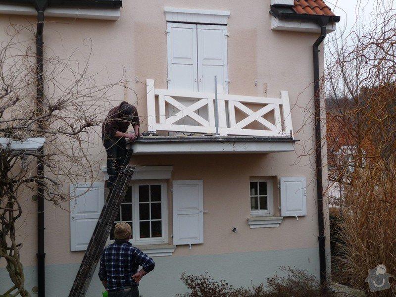 Rekonstrukce balkónu - výroba nového zábradlí: P1050905