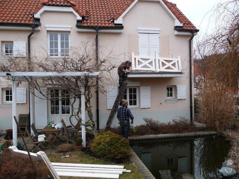 Rekonstrukce balkónu - výroba nového zábradlí: P1050906