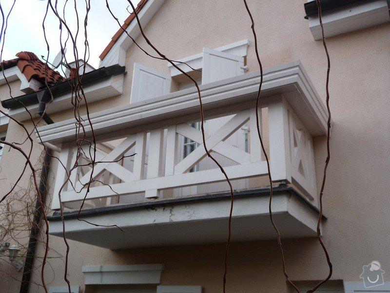 Rekonstrukce balkónu - výroba nového zábradlí: P1050915