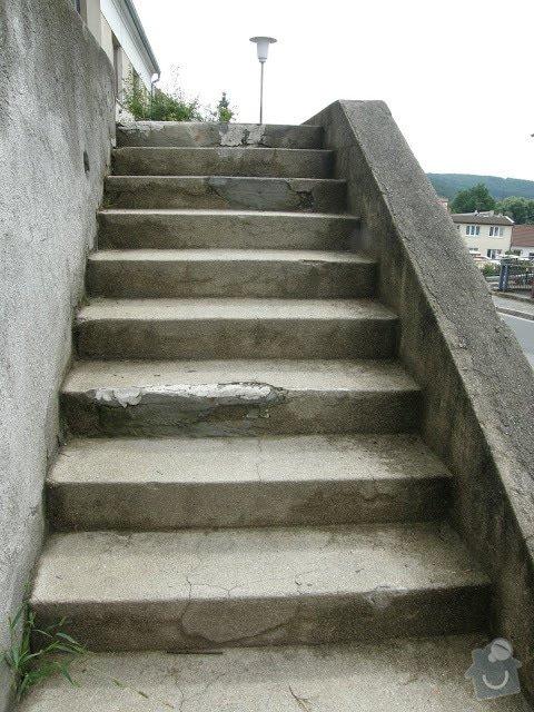 Oprava vnější betonové zdi a schodů: P8141590