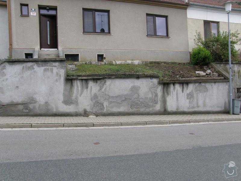 Oprava vnější betonové zdi a schodů: P8141591