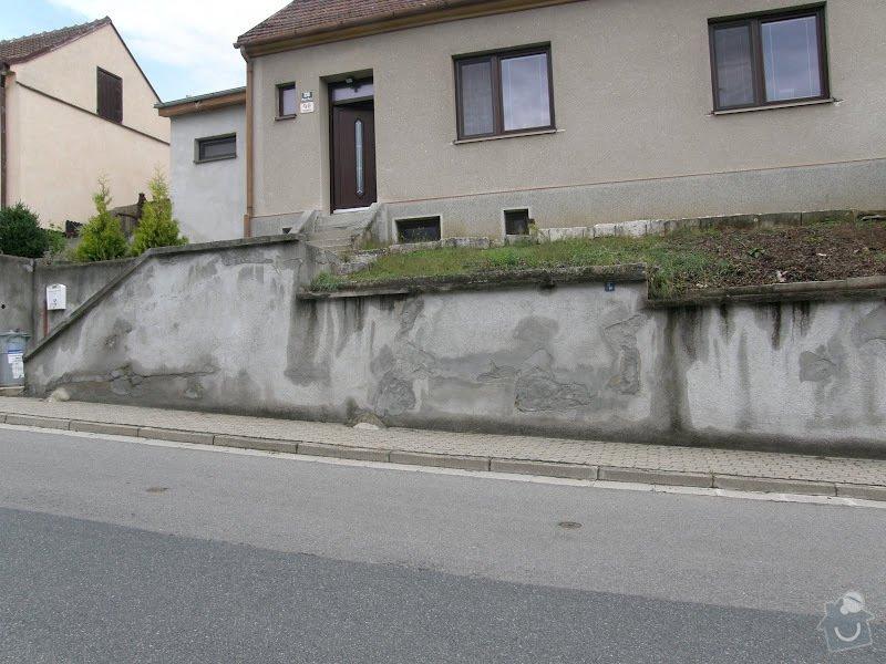 Oprava vnější betonové zdi a schodů: P8141592