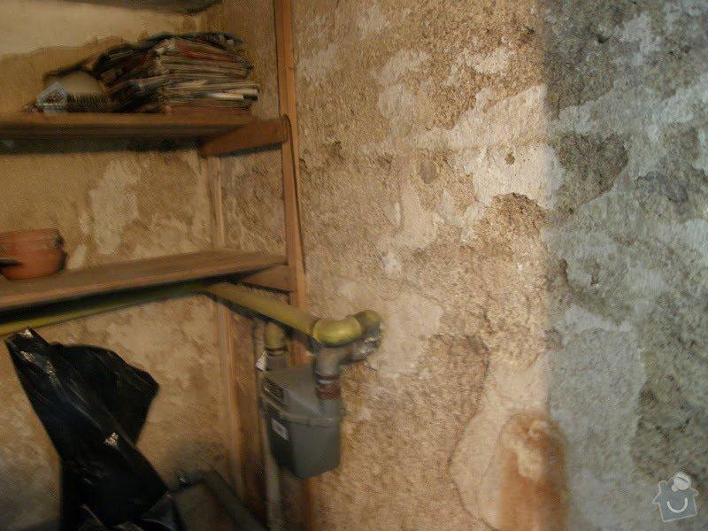 Oprava vnější betonové zdi a schodů: P8141608