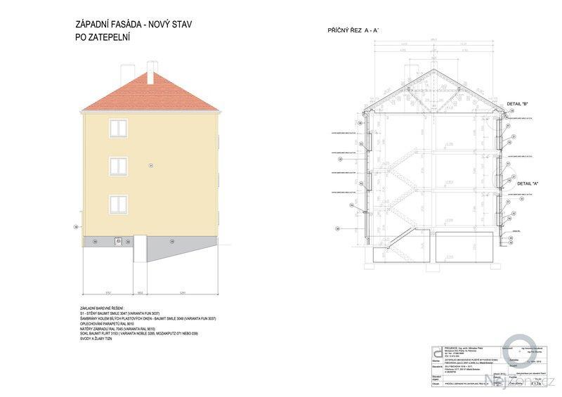 Zateplení fasády cihelného domu: F_1.7b_SLOUC