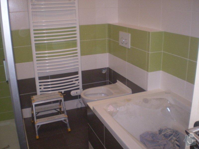 Betonování garáže, velkoformátová dlažba, obklad koupelny: P4070148