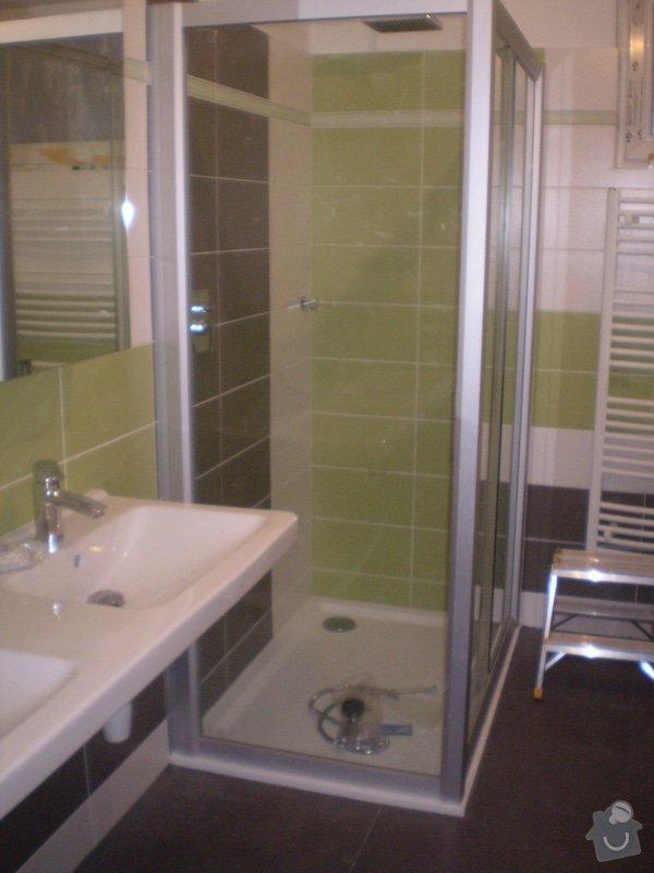 Betonování garáže, velkoformátová dlažba, obklad koupelny: P4070149