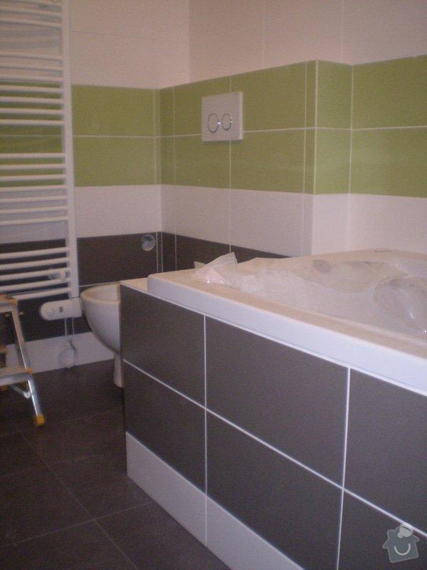 Betonování garáže, velkoformátová dlažba, obklad koupelny: P4070151