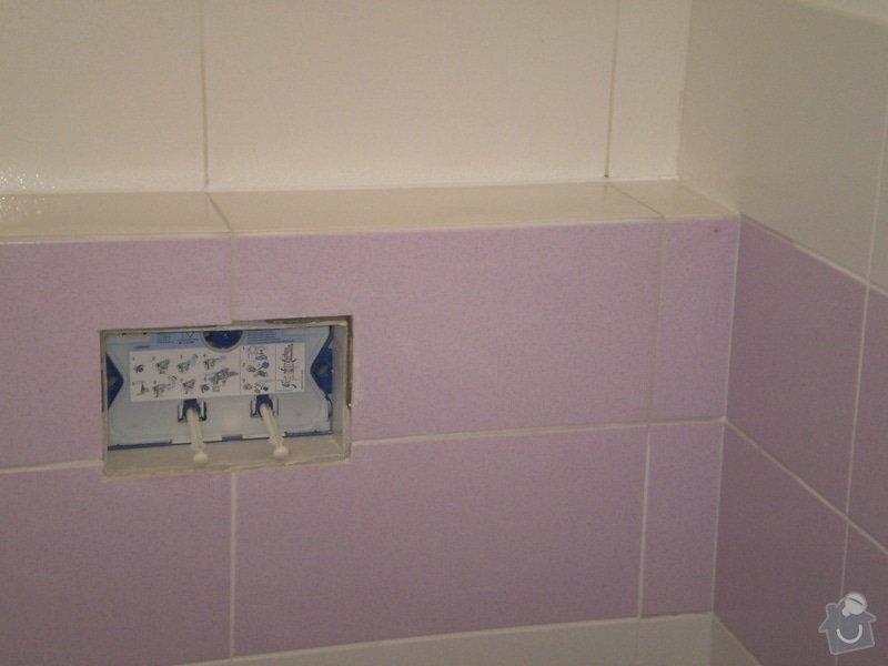 Betonování garáže, velkoformátová dlažba, obklad koupelny: P4070163