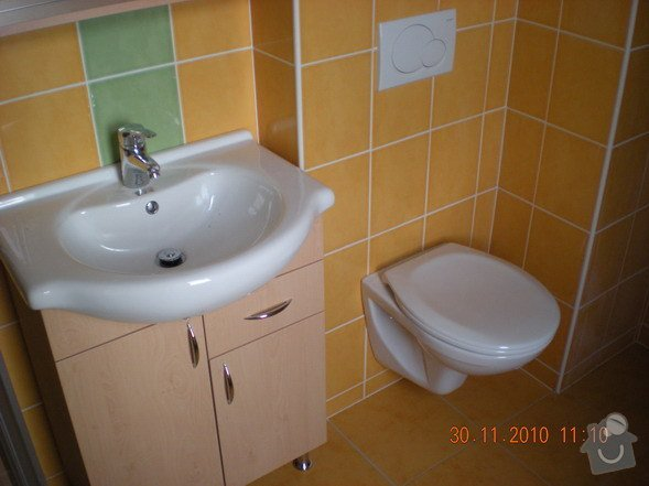 Kompletní rekonstrukce koupelny,realizace topení,rozvody TUV,SUV,HT-systém: 136-02