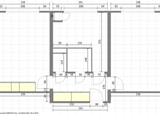 Rekonstrukce bytového jádra, malířské práce celý byt