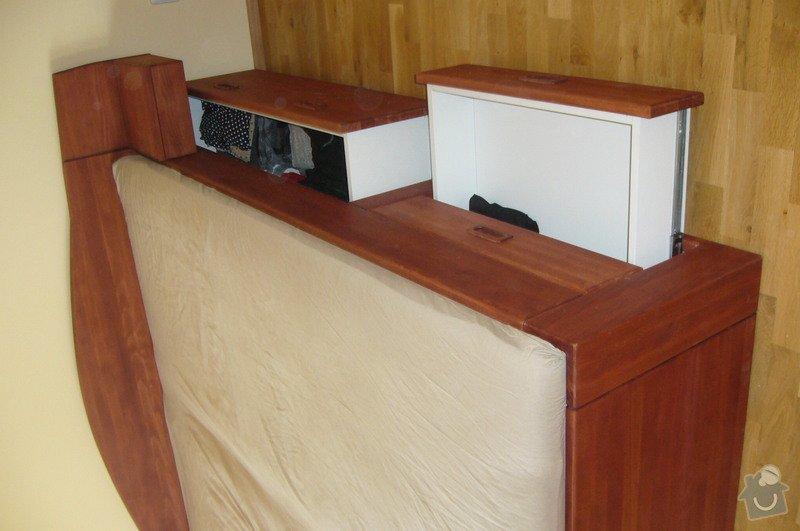 Výroba postele a vestavěné skříně z masivu: P1020294