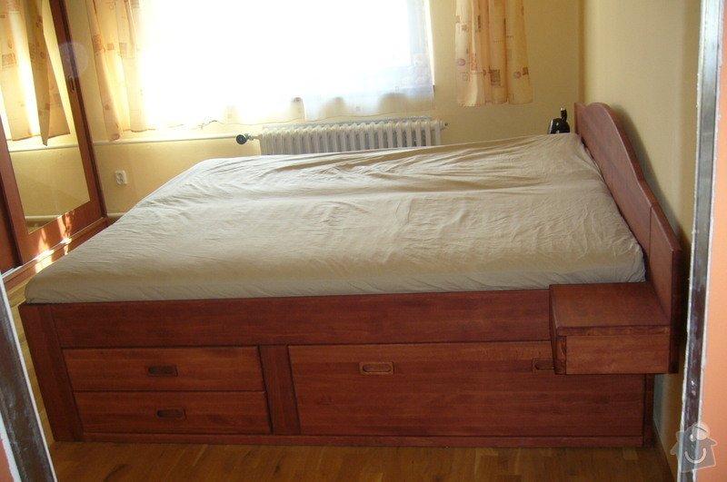 Výroba postele a vestavěné skříně z masivu: P1020297