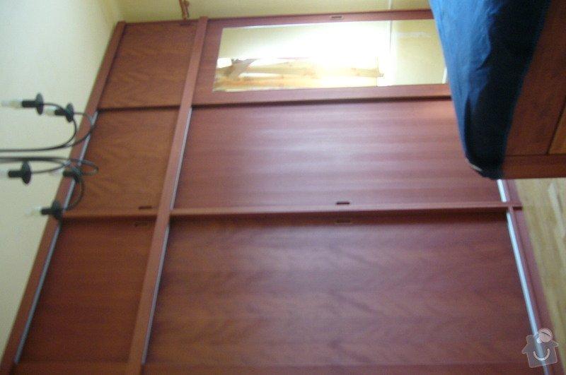 Výroba postele a vestavěné skříně z masivu: P1020273