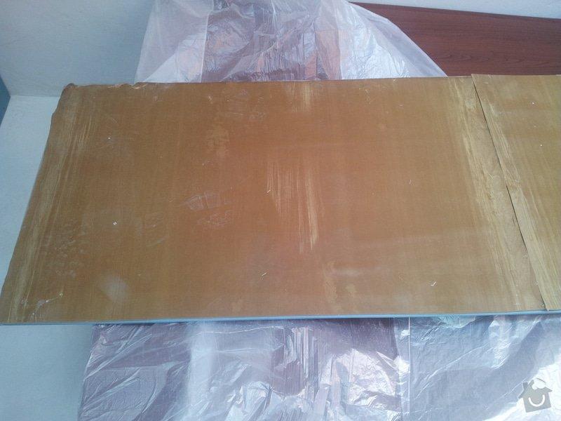 Odhlučnění stropu - folie AMS Tecsound: 20120227_135528