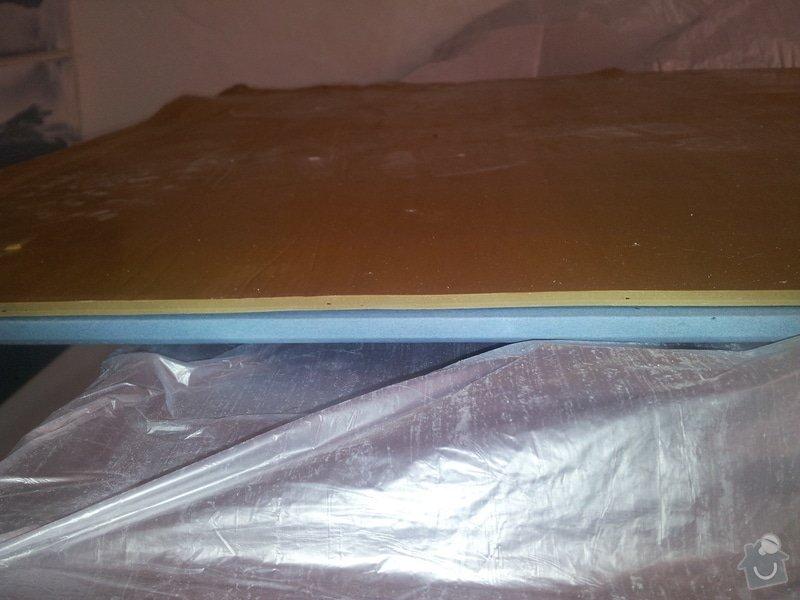 Odhlučnění stropu - folie AMS Tecsound: 20120227_135537
