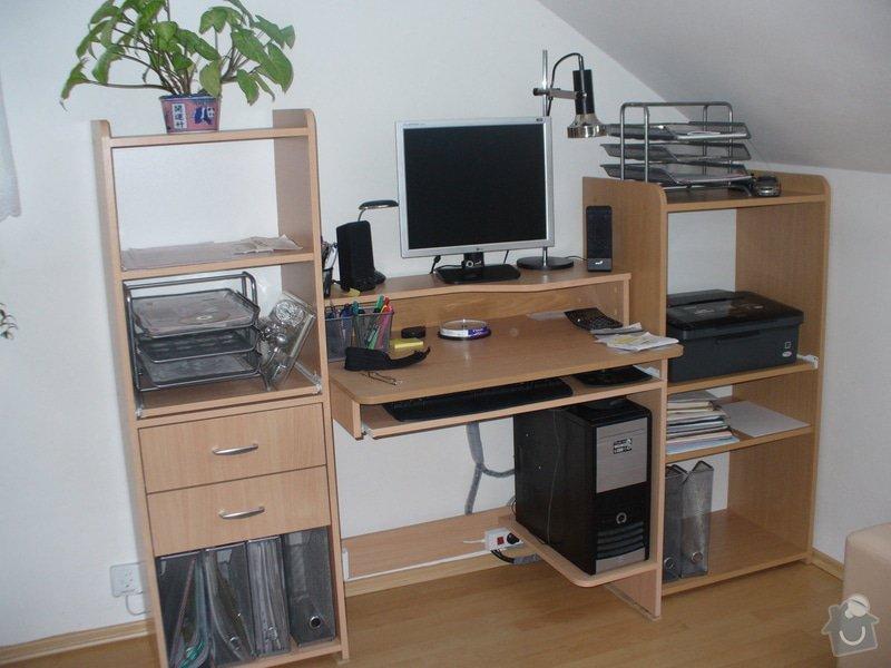 Vestavěná skříň, šikmá vestavěná skříň, škříň, PC stůl, noční stolky a ostatní nábytek: P1230268