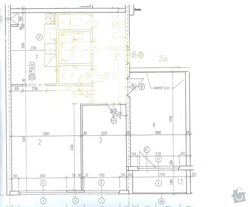 Návrh rekonstrukce bytu 3+kk: Letovska_soucasny_stav