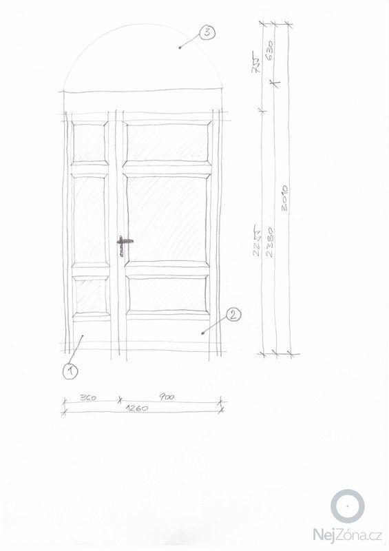 Vyroba vchodovych dveri na miru: Dvere_1_-_navrh_dveri