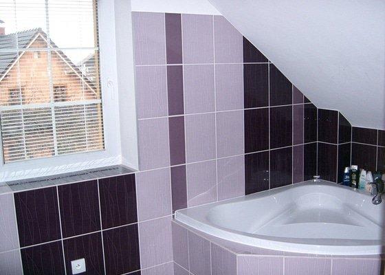 Realizace koupelny v podkroví v RD