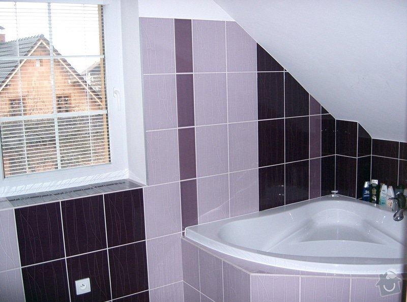 Realizace koupelny v podkroví v RD: CIMG3137
