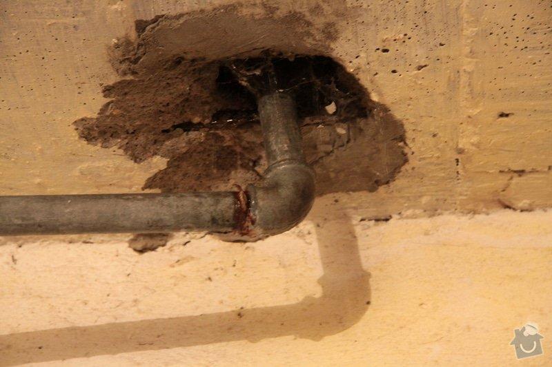 Instalatérské práce, prasklá voda - chata: IMG_2113