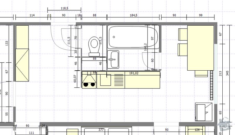 Rekonstrukce bytového jádra + vybourání panelu: byt47porekonstrukci